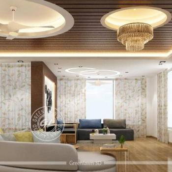 Green 3D Interior Rendering in Ahmedabad