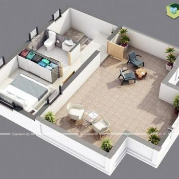 Green 3D Floor Plan design in Ahmedabad