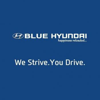 Blue Hyundai in Bangalore