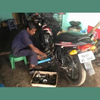 Jacky's Two Wheeler Workshop in Kattappana, Idukki