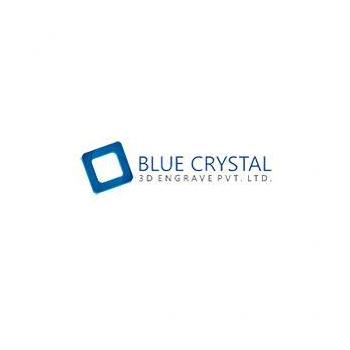 Blue Crystal 3D Engrave in Bangalore