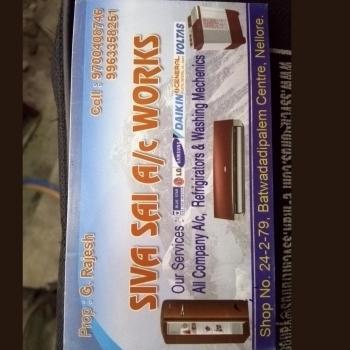 Siva Sai Ac works in Nellore