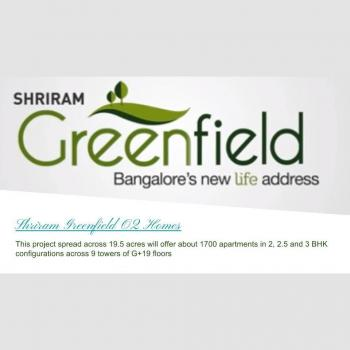 Shriram Greenfield O2 Homes in Bangalore