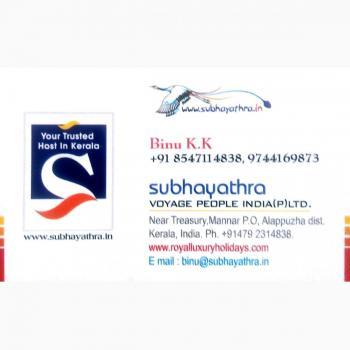 SUBHAYATHRA TOURS in Alappuzha