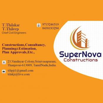 SUPERNOVA  DESIGNERS & CONSTRUCTIONS in Thanjavur