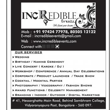 incrredibleeventz in Bangalore