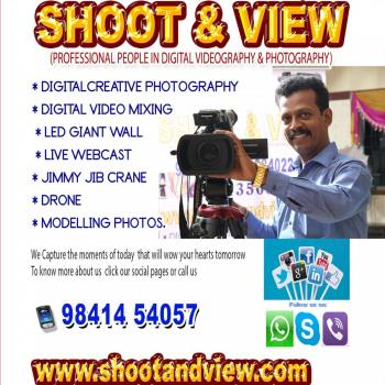 SHOOT&VIEW DIGITAL VIDEO&PHOTOGRAPHY in Chennai