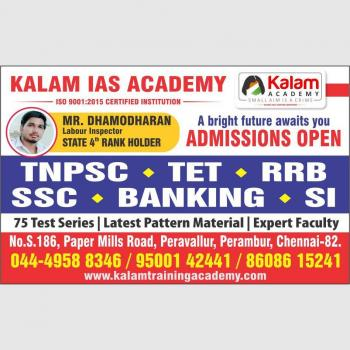 Kalam Training Academy in Chennai