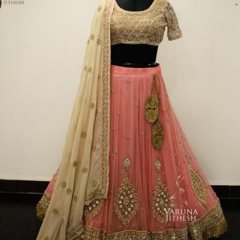 Lehenga at Pink White Designer Studio in Changanassery