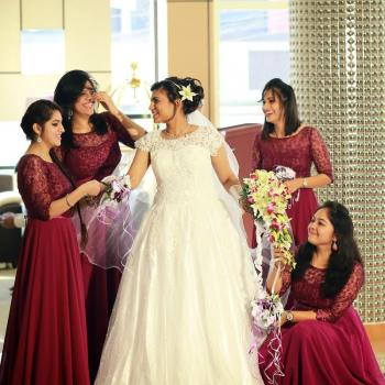Wedding gowns at Leens Boutique and Tailoring For Ladies & Kids in Kothamangalam