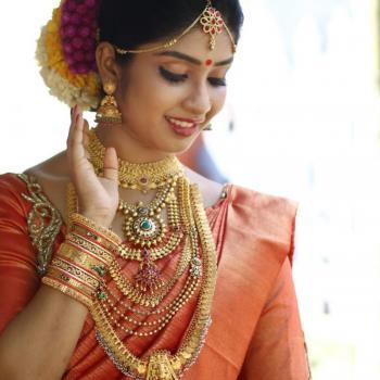 Bridal Makeup at Neha Orchid Ladies & Kids Beauty Parlour in Kuruppampady