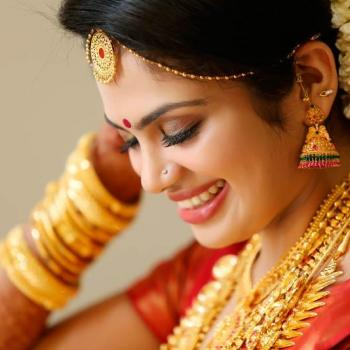 Bridal Makeup at Rupaali Beauty parlour in Muvattupuzha