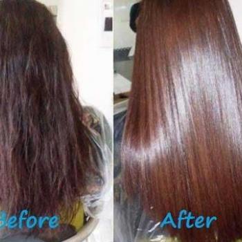 Hair straightening at Dream Girl Beauty Spa & Tailoring in Kalloorkkad