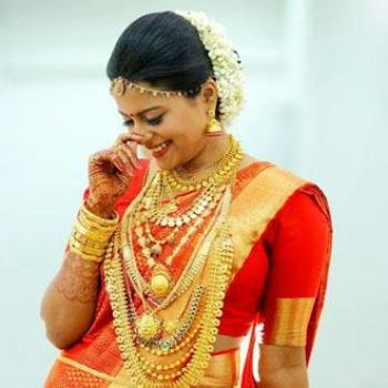 Bridal Makeup at Melvin's Shahnaz Herbal Beauty Care in Perumbavoor