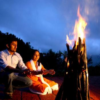 Campfire at Thekkady Lake View in Thekkady