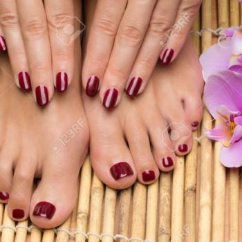 Pedicure&Manicure at Angels Shahanas in Pattimattom