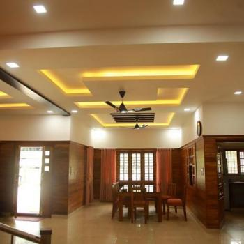 Dining room Interior at Hallway Interiors in Angamaly