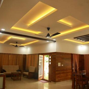 False Ceiling at Hallway Interiors in Angamaly