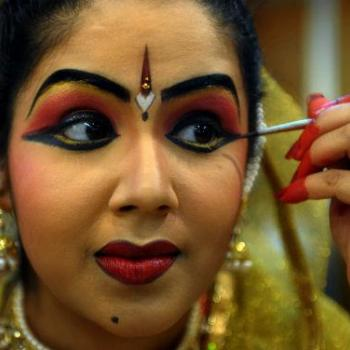 Dance Makeup at Mayilpeeli Dance Collection in Kalady