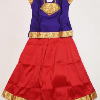 Full Skirt & Blouse at Maria Fashion Designer - Ladies & Kids Tailoring Centre in Thrippunithura