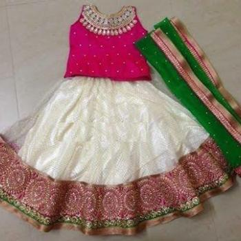 Full Skirt & Blouse at Sikba Beauty Parlour &Tailoring in Perumbavoor