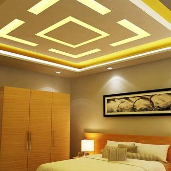 Ceiling at Gyptech Interiors Decorations in Muvattupuzha